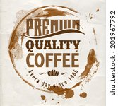 coffee label for cafe in blotch ... | Shutterstock .eps vector #201967792