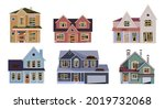 old abandoned house cartoon...   Shutterstock .eps vector #2019732068