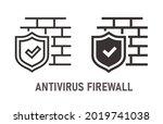 antivirus firewall icon. vector ... | Shutterstock .eps vector #2019741038