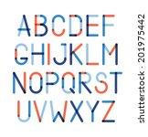 color alphabet | Shutterstock .eps vector #201975442