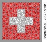 mosaic swiss flag constructed... | Shutterstock .eps vector #2019770405