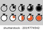 chrono. timer  clock  stopwatch ...   Shutterstock .eps vector #2019774542