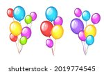 collection of color balloons...   Shutterstock .eps vector #2019774545