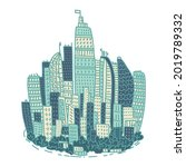 isolated big city metropolis...   Shutterstock .eps vector #2019789332
