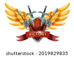 victory game ui design sign ...