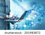 stock exchange chart.  | Shutterstock . vector #201983872