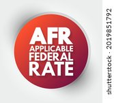 afr   applicable federal rate... | Shutterstock .eps vector #2019851792