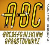 vector capital alphabet letters ... | Shutterstock .eps vector #2019870902