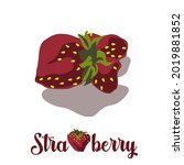 ripe strawberries of an unusual ... | Shutterstock .eps vector #2019881852