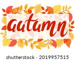 bright autumn background with... | Shutterstock .eps vector #2019957515