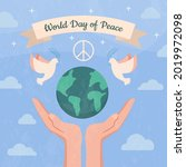 Hands Support The Planet Earth  ...