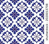 tile pattern  decorative damask ... | Shutterstock .eps vector #2020013708