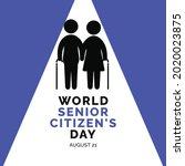 world senior citizen's day... | Shutterstock .eps vector #2020023875