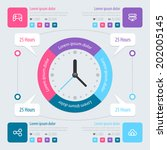 infographic design. time... | Shutterstock .eps vector #202005145