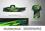 sport car wrap and t shirt... | Shutterstock .eps vector #2020056902
