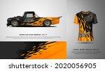 sport car wrap and t shirt... | Shutterstock .eps vector #2020056905
