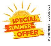 special summer offer banner  ... | Shutterstock .eps vector #202007326