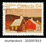 canada   circa 1983  brown... | Shutterstock . vector #202007815