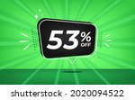 53  off. green banner with...   Shutterstock .eps vector #2020094522