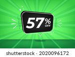 57  off. green banner with...   Shutterstock .eps vector #2020096172