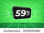 59  off. green banner with...   Shutterstock .eps vector #2020096682