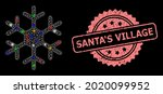 shiny mesh web snowflake with... | Shutterstock .eps vector #2020099952