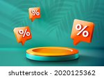 stage podium percent  stage... | Shutterstock .eps vector #2020125362