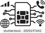 sim icon vector. communication...   Shutterstock .eps vector #2020157642