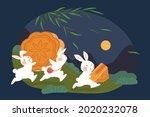 mid autumn festival design.... | Shutterstock . vector #2020232078