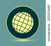 round button. vector icon flat... | Shutterstock .eps vector #202023685