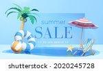 3d refreshing summer sale...   Shutterstock .eps vector #2020245728