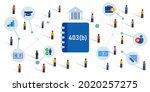 401k plan retirement for... | Shutterstock .eps vector #2020257275