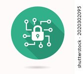 cyber security icon. simple... | Shutterstock .eps vector #2020302095