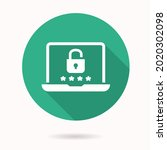 online privacy icon. simple... | Shutterstock .eps vector #2020302098