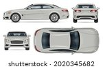 car vector mockup. isolated... | Shutterstock .eps vector #2020345682