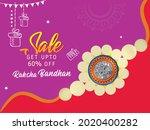 happy raksha bandhan indian...   Shutterstock .eps vector #2020400282