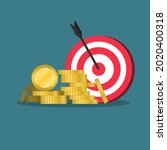 target with arrows and coin...   Shutterstock .eps vector #2020400318