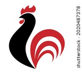 rooster logo illustration in...   Shutterstock .eps vector #2020487378