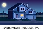 street in suburb district with... | Shutterstock .eps vector #2020508492
