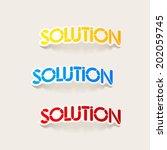 realistic design element ... | Shutterstock .eps vector #202059745