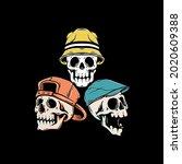 Hat Skull Style Premium Vector...