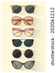sunglasses vector set | Shutterstock .eps vector #202061212
