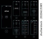 ui  ux  gui kit with welcome ...