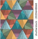 textile pattern of geometric... | Shutterstock .eps vector #2020648868