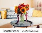 Fresh sunflowers and zinnia...