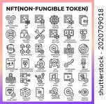 nft non fungible token icons...
