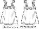 vector sleeveless top with... | Shutterstock .eps vector #2020735352