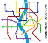fictitious city public... | Shutterstock .eps vector #202073998