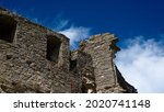 Ruins Of An Old Castle Against...