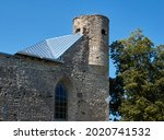 Old Fortress Tower Against Blue ...